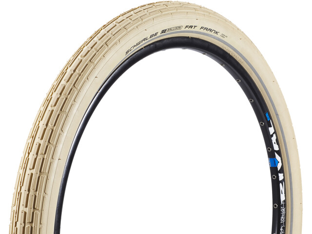 "SCHWALBE Fat Frank Tyre Active 26"" SBC, wire bead creme-reflex"